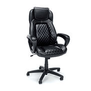 Essentials by OFM ESS-6060 High-Back Racing Style Leather Executive Chair, Black