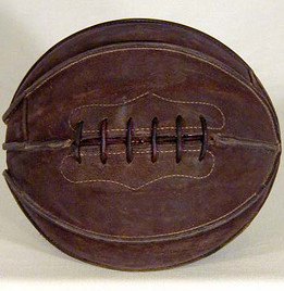 1900-1910 Outer Seam Laced Basketball