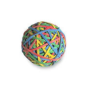 Acco Rubber Band Ball, 275 Assorted Color Bands, 1 Each