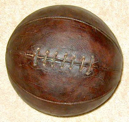 1910's Leather Laced Basketball