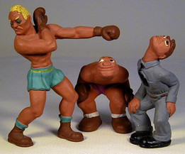 1940's Set of Rittgers Boxing Figures