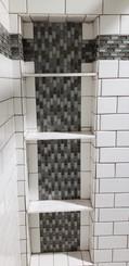 Walls/Niche/Border 3 x 6 Designer White, 5/8 x 1 1/4 Mini Bricks Glass