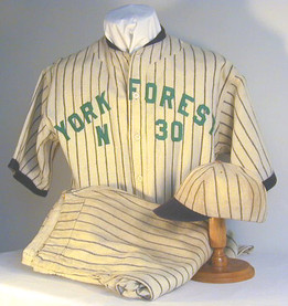 Circa. 1915-20 York Forest Baseball Uniform with Cap