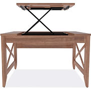 Alera Sit-to-Stand Table Desk – Modern Walnut – Valencia Series