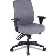 Alera 24/7 High-Back Multifunction Task Chair – Gray Fabric – Wrigley Series