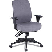Alera 24/7 High-Back Multifunction Task Chair – Gray Fabric – Wrigley Series