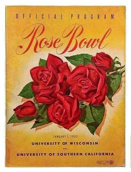 1953 Rose Bowl Football Program - Wisconsin vs USC
