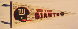 "1960's New York Football Giants ""Signatures"" Pennant"
