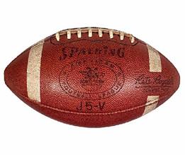 1960's Spalding J5-V Official AFL Football, commissioner Pete Rozelle