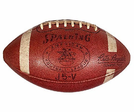 1960's Spalding J5-V Official AFL Football, commissioner Pete Rozelle