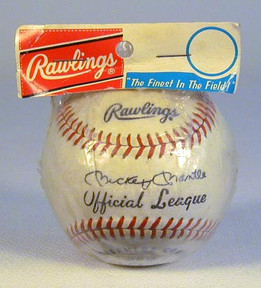 Mickey Mantle Endorsed Rawlings Baseball Sealed in the Original Packaging.