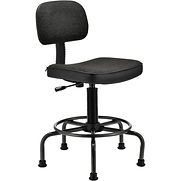 Interion Desk Stool – Fabric – Black