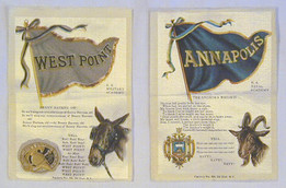 "1910 College ""Yell"" S23 Silks for Annapolis (Navy), Princeton University, West Point (Army), Yale University"