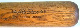 1930's Lou Gehrig Bat