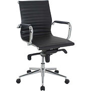Interion® Leather Conference Chair - Black