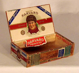 19th Century Harvard Football Cigar Box