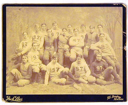 1897 Yale Football Team Photo by Pach Bros.
