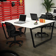Interion Collaboration Table – Double – 60″W x 60″D x 30″H – Gray
