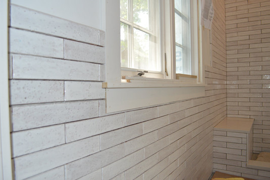 2x12 White Matte and Gloss Tile