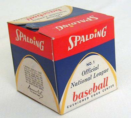 1950's Warren Giles Spalding Official National League Baseball SEALED in the Original Box. Pristine MINT condition!