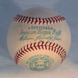A 1940's Reach Official American League Baseball, President William Harridge. One of the growing areas of vintage baseball memorabilia collecting continues to be that of the Official American League and Official National League baseballs. This vintage baseball was made by Reach to be used explicitly in games played by the professional teams of the National League. It is an un improvable example with bold markings and the leather is pure white. Showing no signs of use this antique baseball relic remains in MINT unused condition!