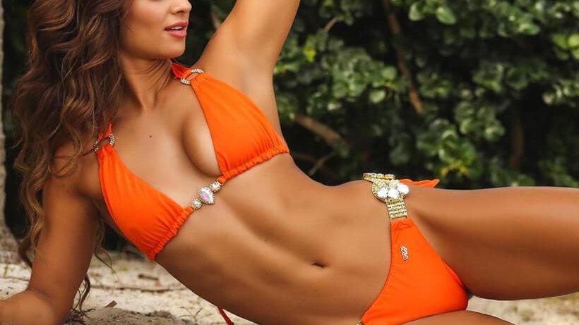 Amber Luxury Top & Tie Side Bottom - Orange