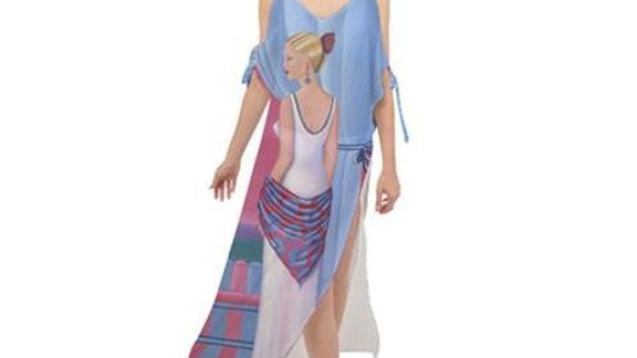 Perfume Maxi Dress Chiffon Dress
