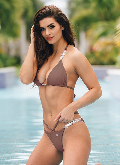 Shanel Triangle Top & Strappy Tango Bottom - Brown