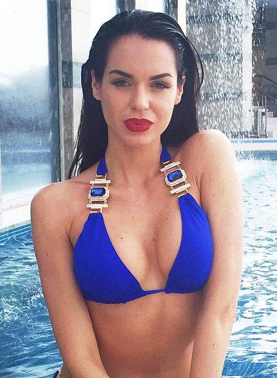 Tina Halter Top - Blue