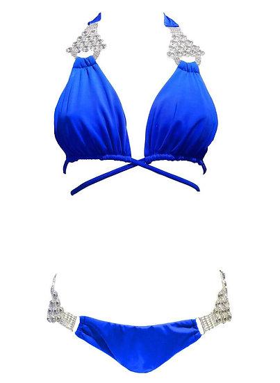 Nicole Halter Top & Skimpy Bottom - Blue