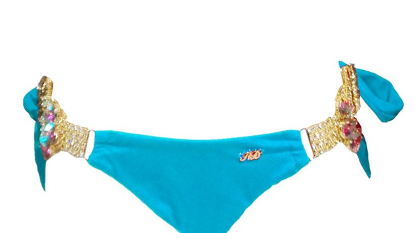 Amber Tie Side Bottom - Turquoise