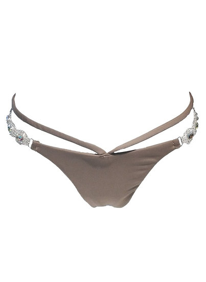 Shanel Strappy Tango Bottom - Brown