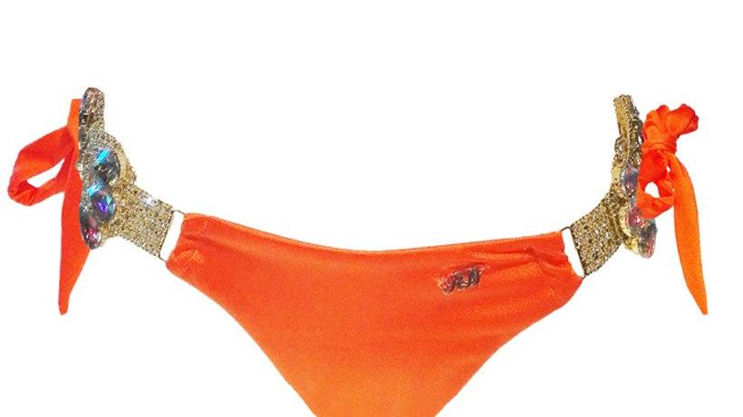 Amber Tie Side Bottom - Orange