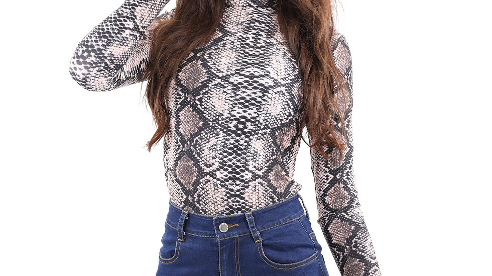 Leslie Animal Print Bodysuit