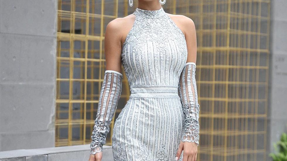 Silver Short Dress