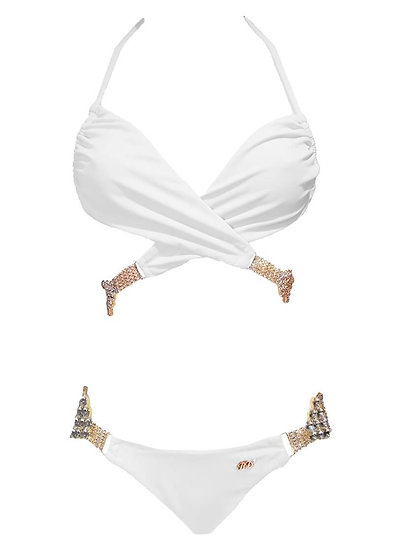 Gina Impressive Top & Skimpy Bottom - White