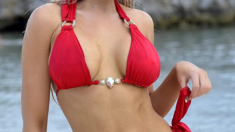 Amber Luxury Top & Tie Side Bottom - Red