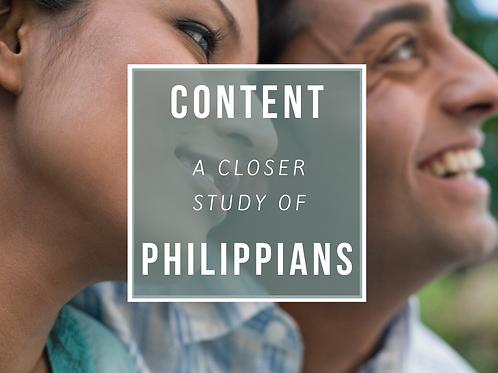 Content:: A CLOSER Look at Philippians