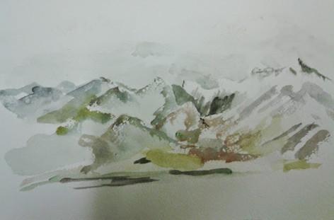 Alaska Plolychrome Mountains Toward MtMcKinnley