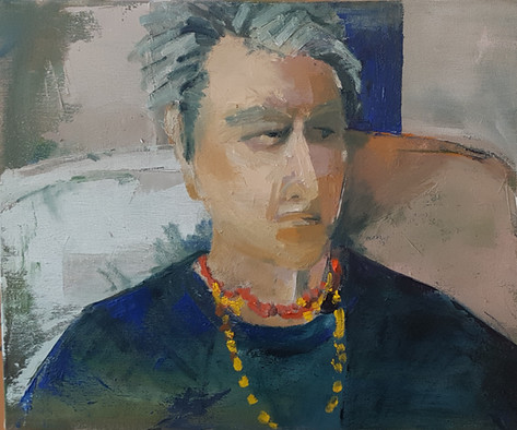 Woman with necklace
