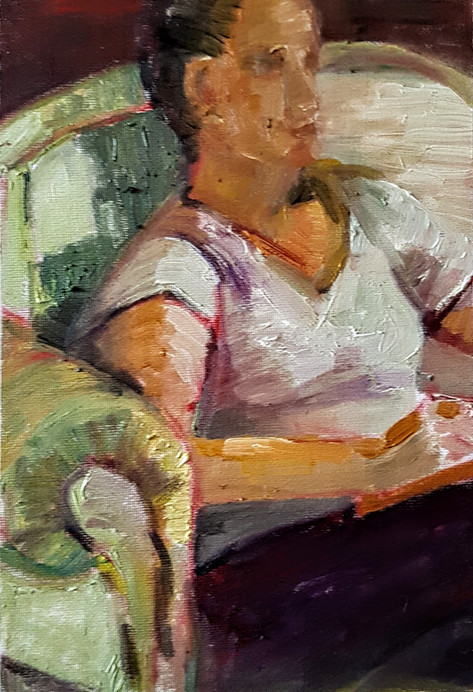 Woman in chair