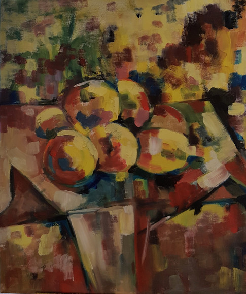 Lemons on white cloth - abstraction 3