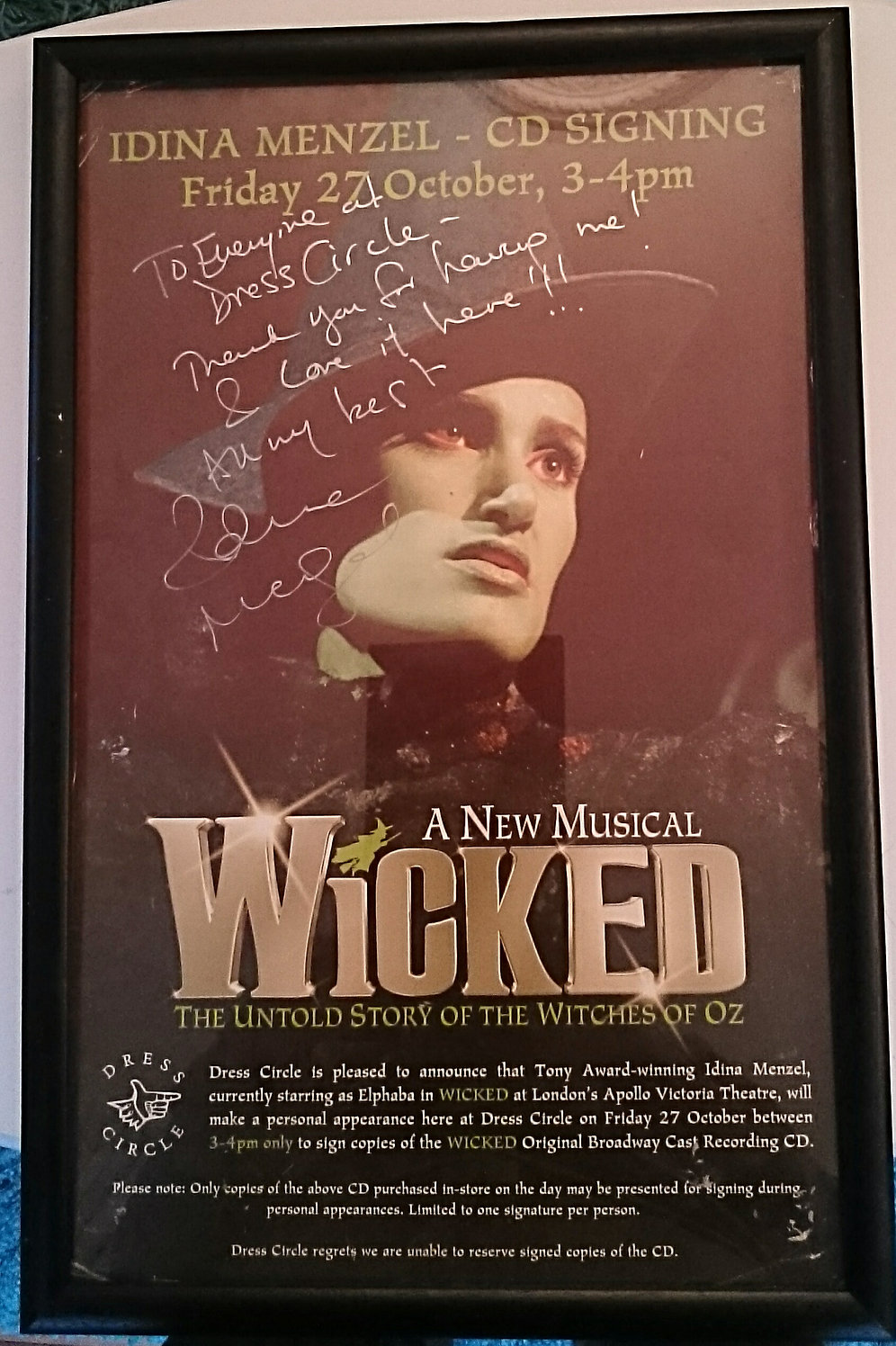 Signed Wicked Poster | theatrecollectables