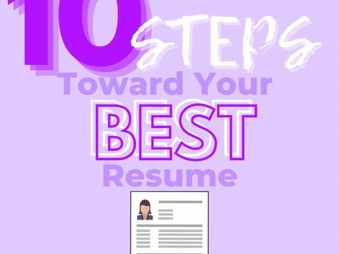 10 Steps Toward Your Best Resume