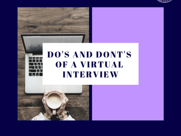 Do's and Don'ts of a Virtual Interview