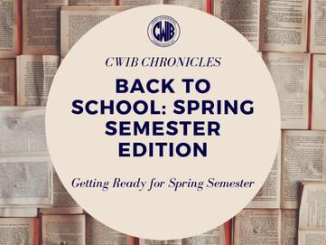 Back to School: Spring Semester Edition