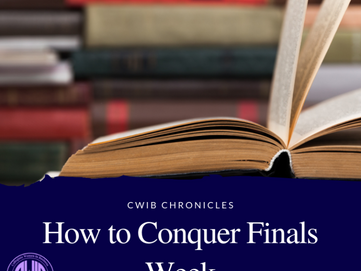 How to Conquer Finals Week