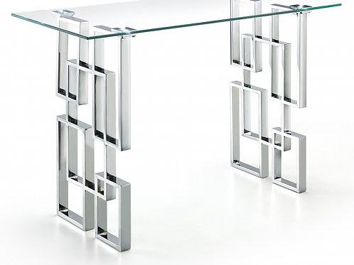 Alexis Chrome Console Table