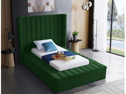 Kiki Velvet Twin Bed