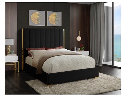 Becca Velvet Bed (Queen)